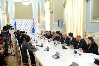 Photo: Meeting at the office of Olexander Popov, the Head of Kyiv City State Administration.