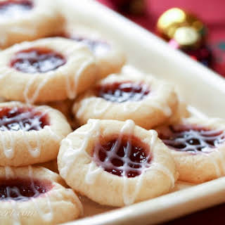 Raspberry Almond Shortbread Thumbprints ~ The Great Food Blogger Cookie Swap 2012.