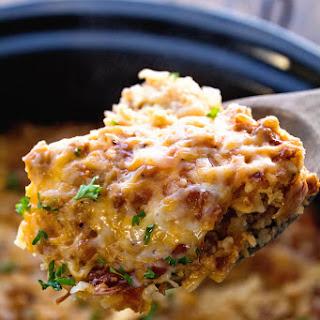 Turkey Crock Pot Breakfast Casserole.