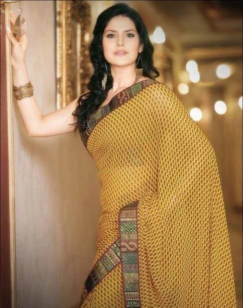 Zareen Khan yellow saree