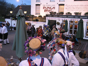 Photo: A fine evening with Plum Jerkum and Coventry Morris