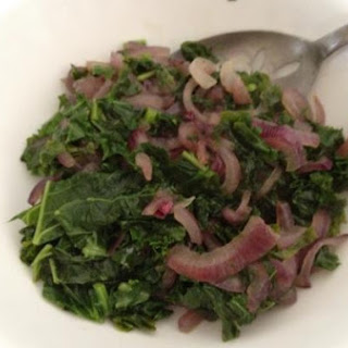 Kale With Red Onion