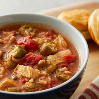 Creole Chicken Gumbo Soup.