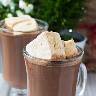 Gingerbread Hot Chocolate with Spiced Rum
