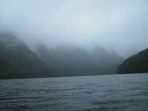 Photo: Looking northeast up Lowe Inlet from Grenville Channel.