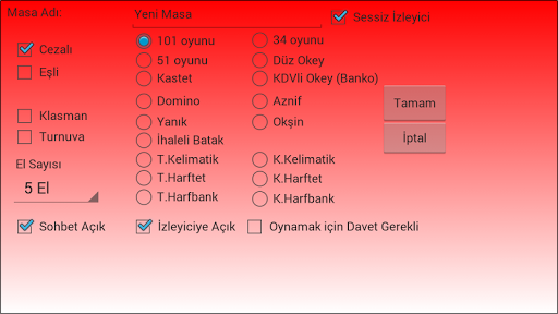 101 Okey Domino hakkarim.net screenshots 5