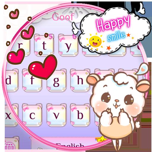 Cute Pretty Sheep Keyboard