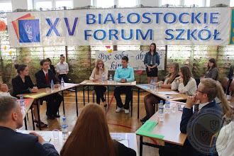 Photo: Debata Samorządów Uczniowskich z szkół Białegostoku zorganizowana w ramach XV Białostockiego Forum Szkół (16.06)