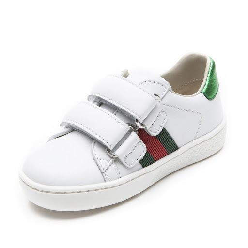 Thumbnail images of Gucci Leather Web Trainer Toddler
