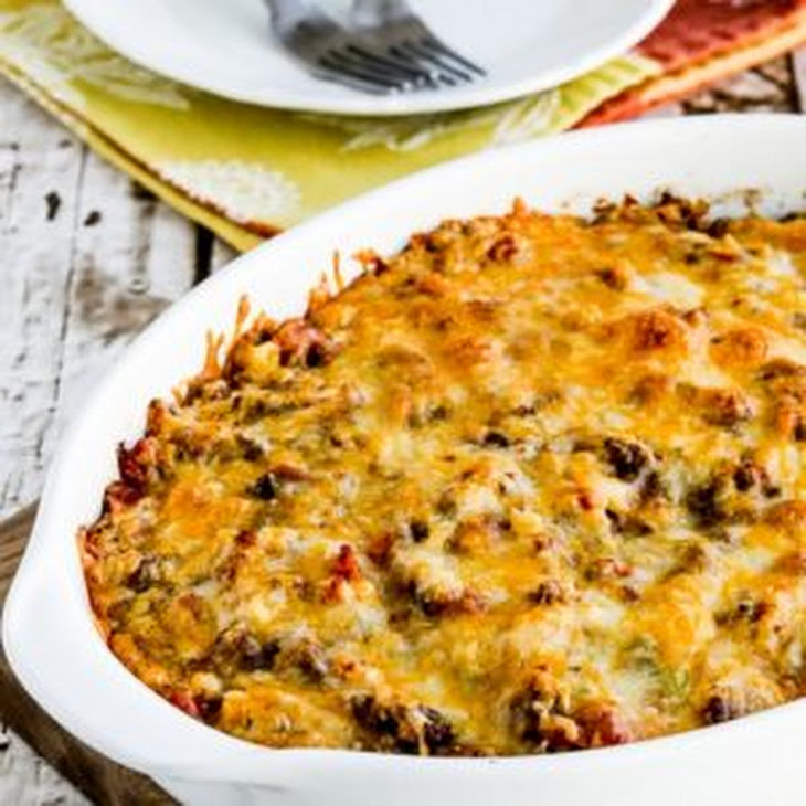 Cheesy Low-Carb Taco Casserole