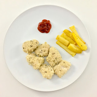 Dairy-Free and Egg-Free Baked Chicken Nuggets.