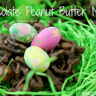 Vegan Chocolate Peanut Butter Nests