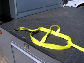 """Photo: Custom made for the smart. Right end goes into the lashing winch for tie-down. This is 2"""" webbing."""
