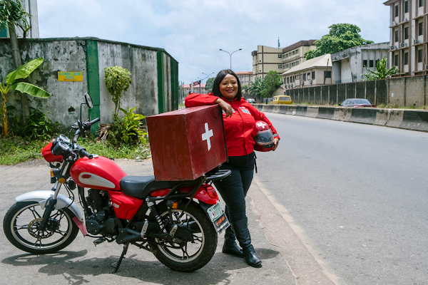 How one woman saves lives with motorbikes, blood banks, and Google Maps