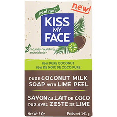 Kiss My Face Coconut Milk Bar Soap: Lime Peel, 5oz