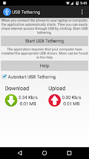 USB Tethering Screenshot