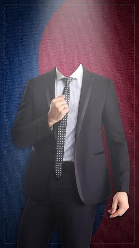 韓国人男性の写真スーツ