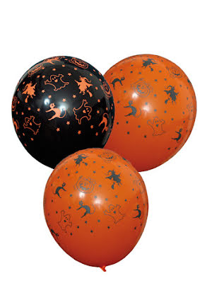 Halloween ballonger, 6 st