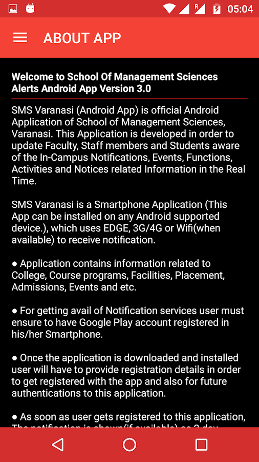 SMS Varanasi Alerts- screenshot
