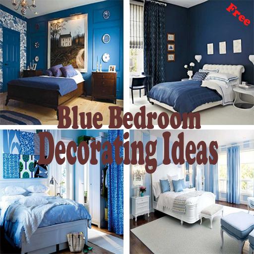 青色のベッドルーム飾るアイデア 生活 App LOGO-APP開箱王