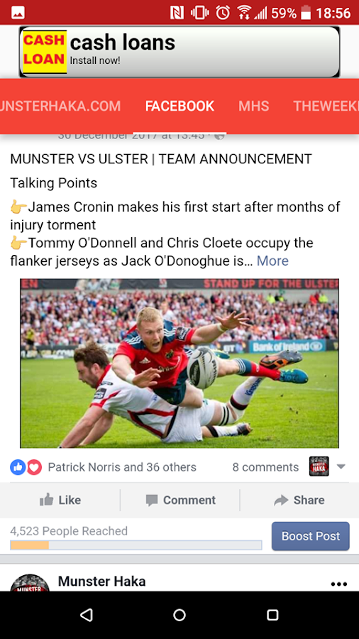 Munster Haka- screenshot