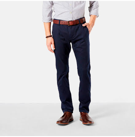 Dockers Alpha Khaki slim stretch pembroke
