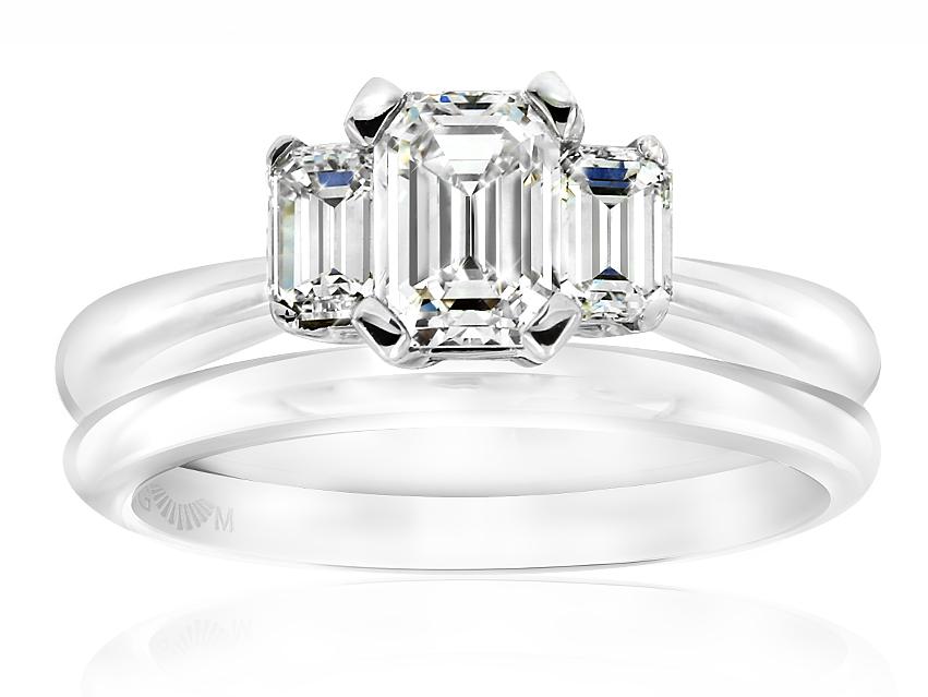 Classic Tria Emerald Cut Diamond Ring - Gerard McCabe