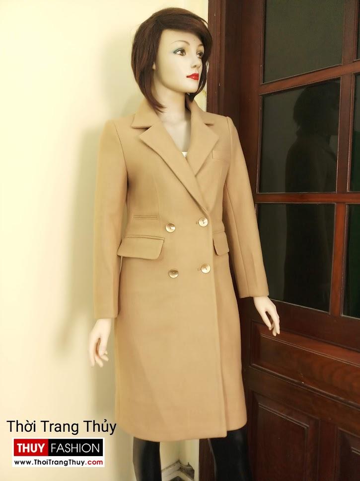 Áo khoác dạ nữ dáng dài màu lạc đà V665 tại sai gòn
