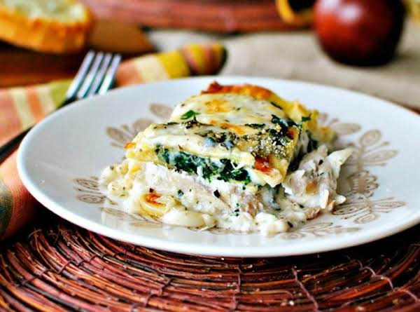 My Favorite White Chicken And Cheese Lasagne