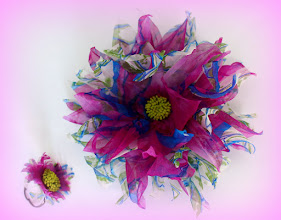 Photo: Цветы из ткани - клематис