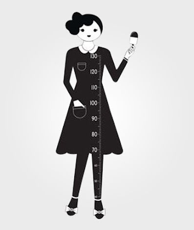 Measurewoman Wallsticker