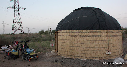 Photo: Day 159 - Stopped for the Night in a Yurt - 18Kms Before  Hauz-Han #2