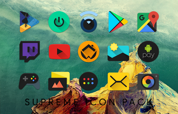 Supreme Icon Pack Screenshot Image