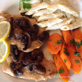 Baked Chicken Scallopini with Mushrooms