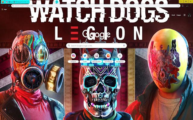 Bright Mask Skull Watch Dogs Legion Top Art