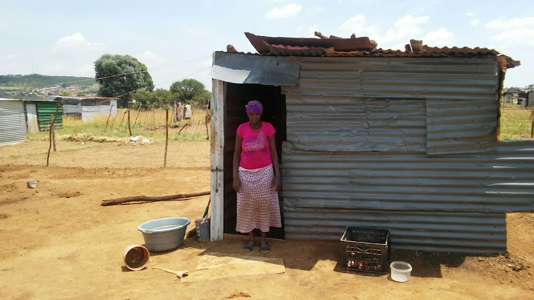 Olivia Makete stands outside her shack in Orange Farm Extension 10, south of Johannesburg. She told TimesLIVE how she suffered at the hands of ANC members outside Luthuli House in an assault caught on camera by Sunday Times photographer Alon Skuy.
