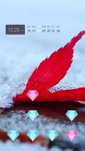 Red Leaves in the Ice