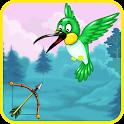 Birds hunting icon