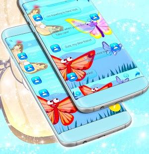 Emoji 2017 Butterfly SMS Theme - náhled