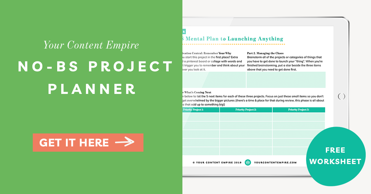 Freebie | No-BS Project Planner