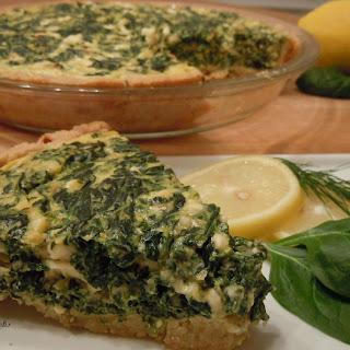 Greek Style Spinach-Feta Pie.