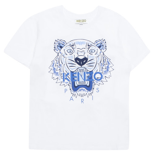 Primary image of Kenzo Kids White Cotton Tiger Tee