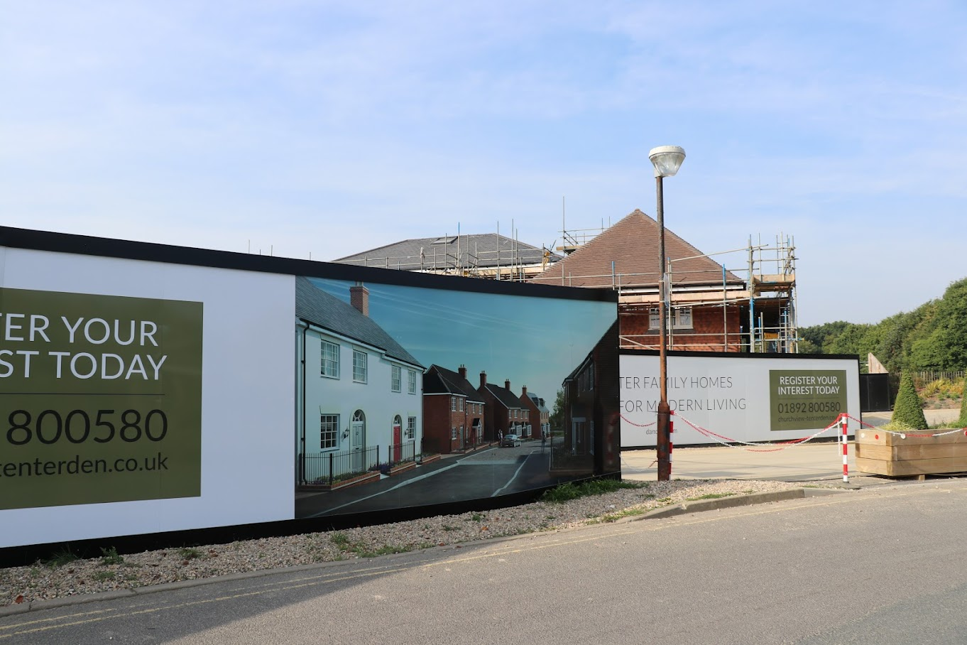 New houses in Tenterden - Three Fields, Church View, McCarthy Stone Retirement apartments