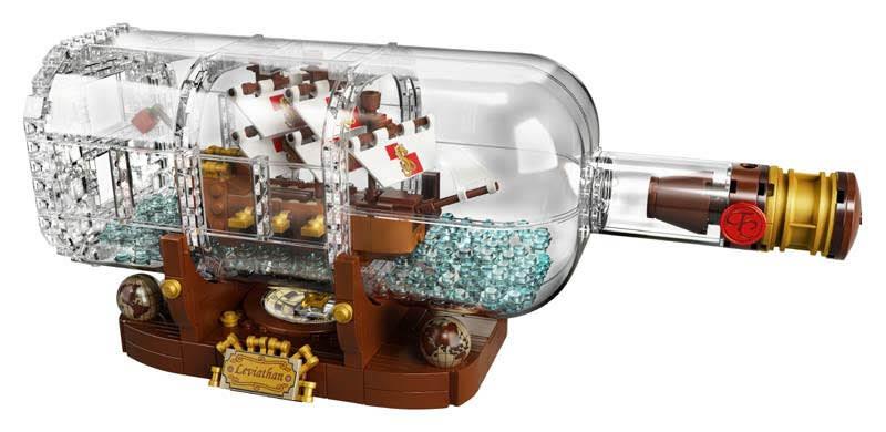 Contenido de Lego® 21313 Barco en una Botella