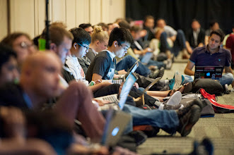 Photo: It can get cozy in our most popular session rooms.