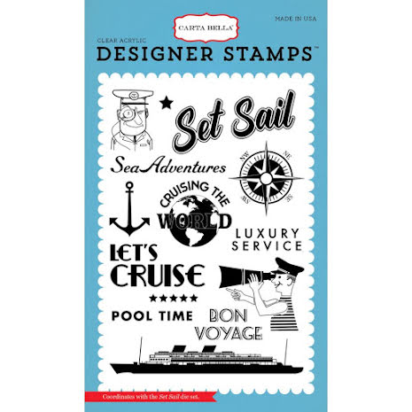 Carta Bella Stamps 4X6 - Set Sail UTGÅENDE