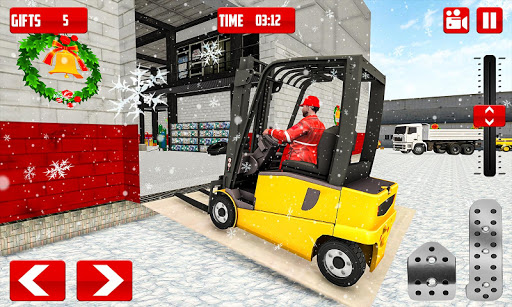 Foto do Santa Christmas: Forklift Christmas Party Gifts