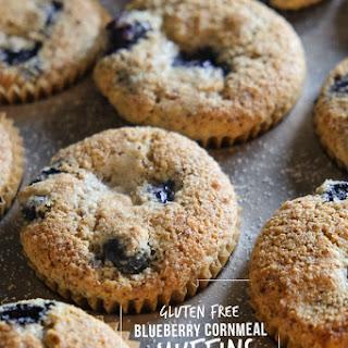 Gluten Free Blueberry Cornmeal Muffins.