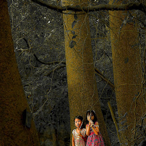 Forest-Dwelling Children by Dian Anugrah - Digital Art People ( forest )