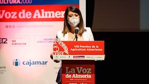 Ángeles Martínez durante su intervención en los Premios.